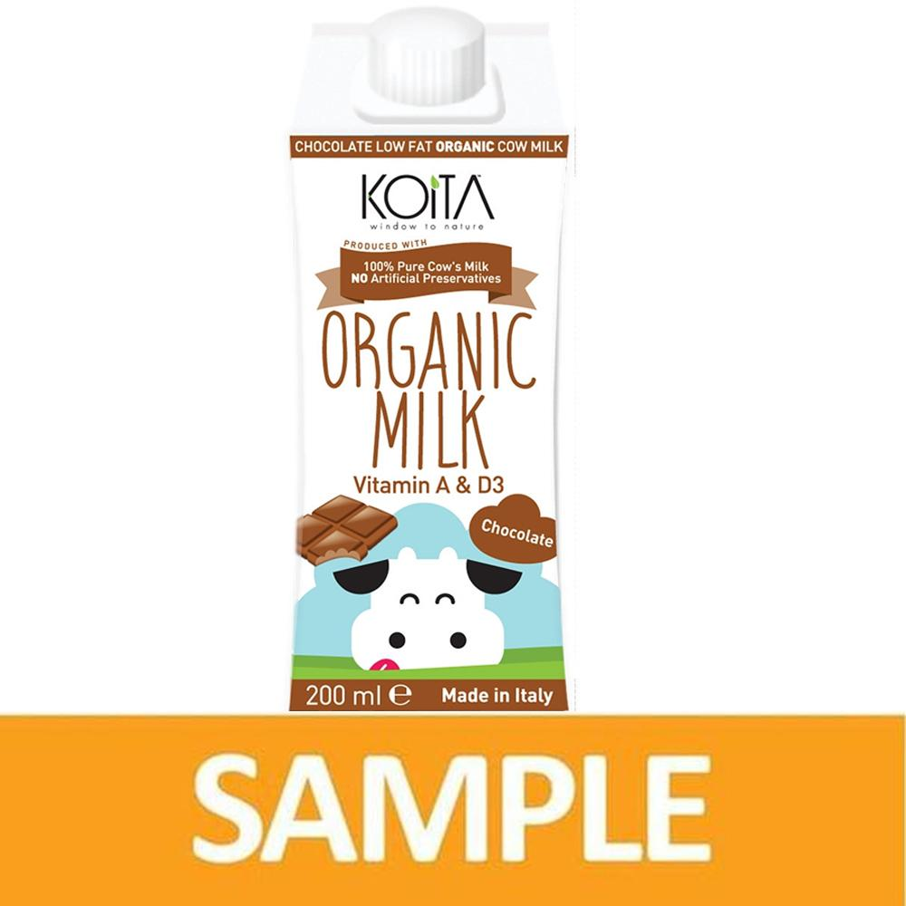 Koita Chocolate Organic Cow Milk 200ML ( Free Sample) - Sanadeeg