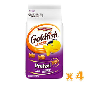 Peppridge Farm Goldfish Baked Snack Crackers - Pretzel (4 x 227 gm) - Sanadeeg