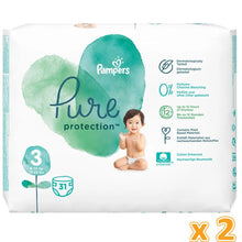 Pampers Pure Protection Diapers, Size 3, 6-10kg, (2 x 31 Count)