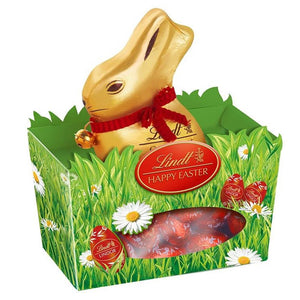 Lindt Gold Bunny Milk Chocolate + Lindor Eggs Milk Chocolate (1 x 150 Gm) - Sanadeeg