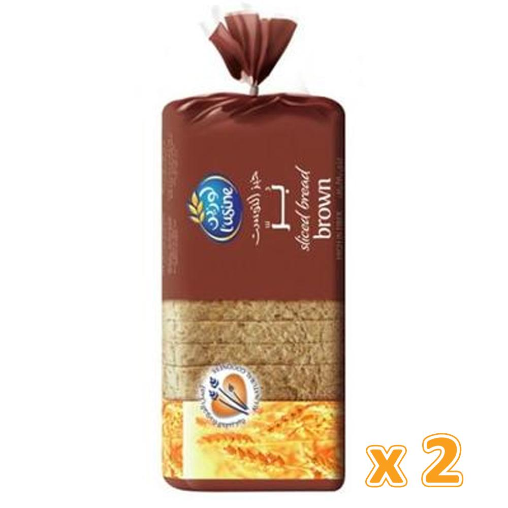 L'Usine Brown Sliced Bread (2 X 600 Gm) - Sanadeeg