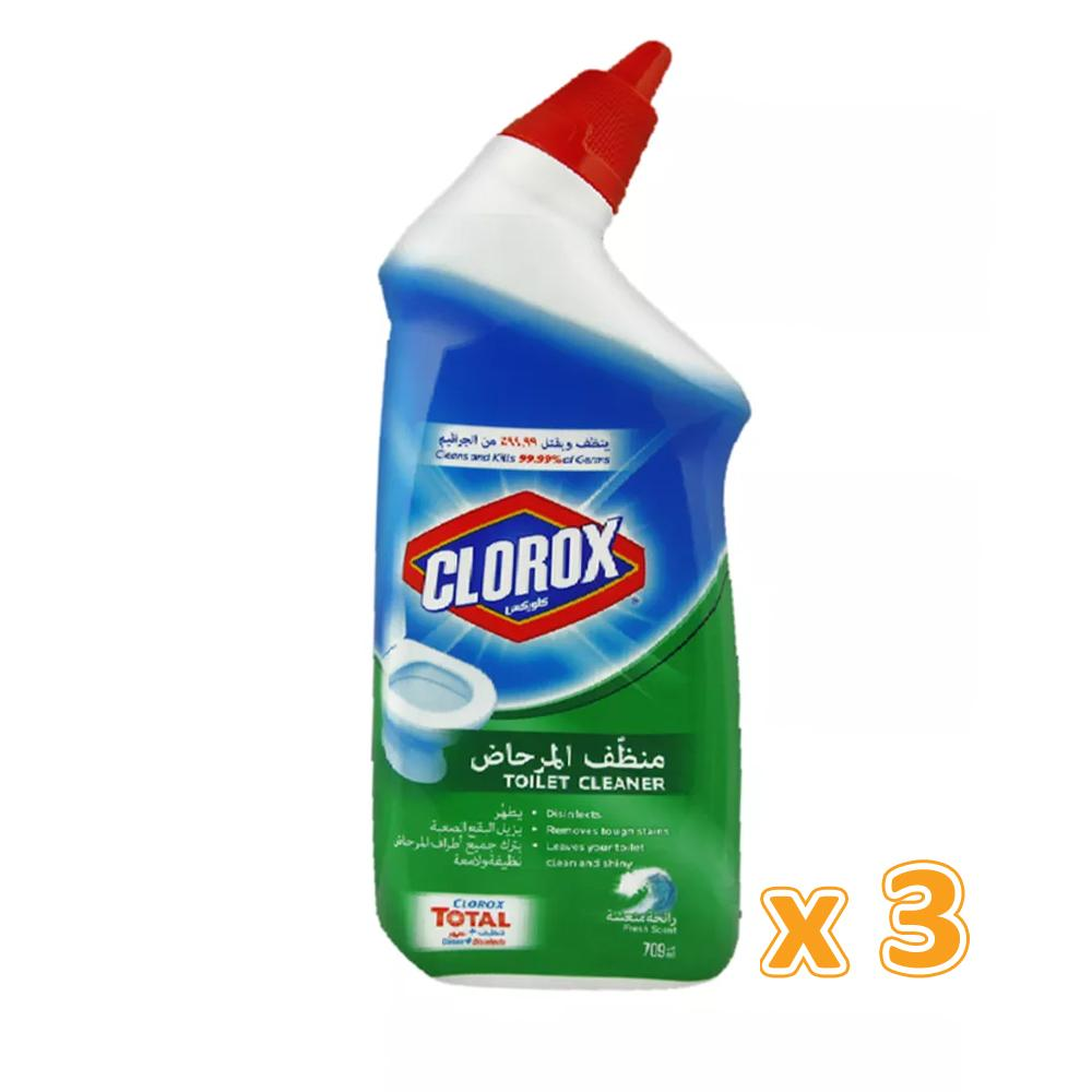 Clorox Toilet Cleaner Fresh ( 3 x 709 ml) - Sanadeeg