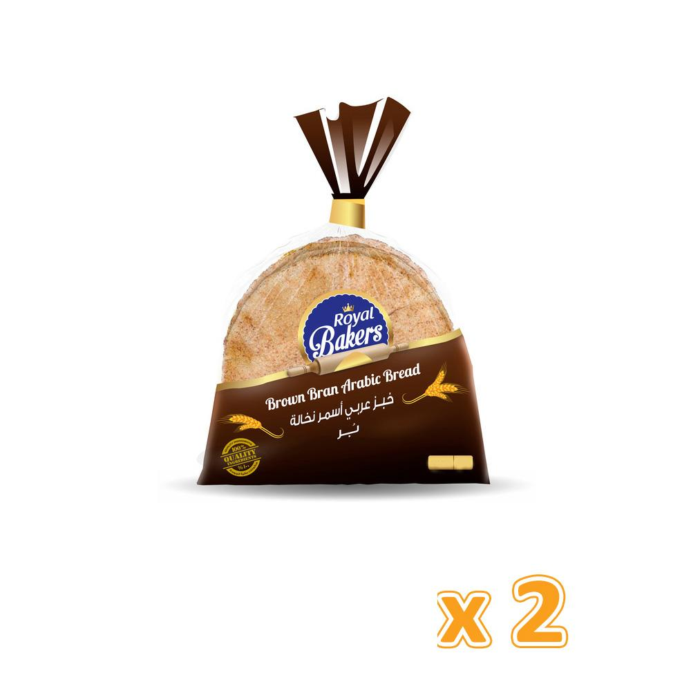 Royal Bakers Brown Arabic Bread (2 x 550 Gm) - Sanadeeg