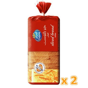 L'Usine White Sliced Bread (2 X 600 Gm) - Sanadeeg