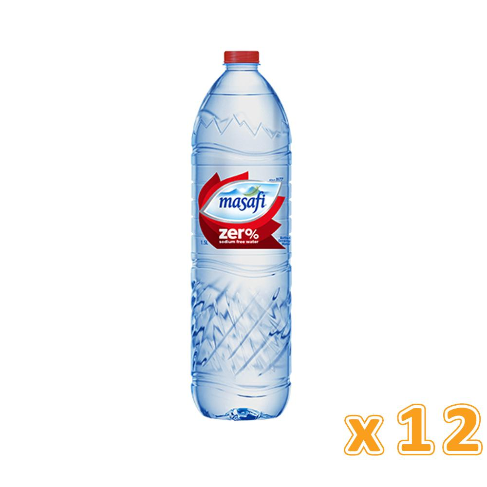 Masafi Bottled Drinking Water Zero Sodium (12 x 1.5 L)