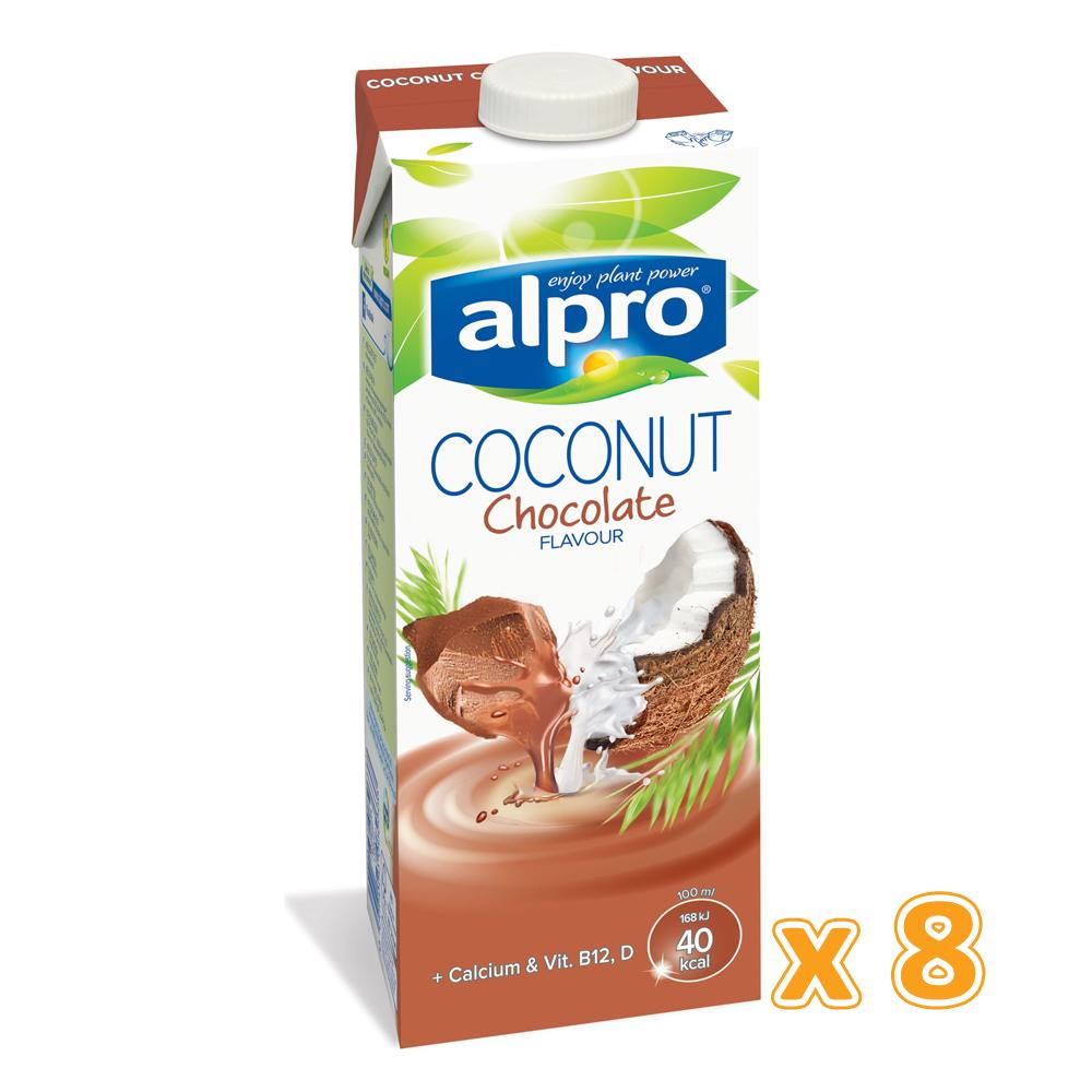 Alpro Coconut Chocolate Milk Drink ( 8 x 1L) - Sanadeeg