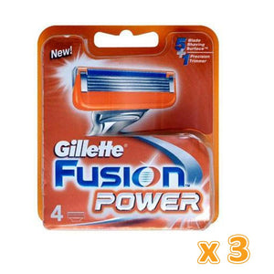 Gillette Fusion Power Razor Blades Cartridge (3 x 4 Blades) - Sanadeeg