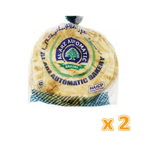 Al Arz White Arabic Bread Large 6 Pcs (2 X 725 Gm) - Sanadeeg