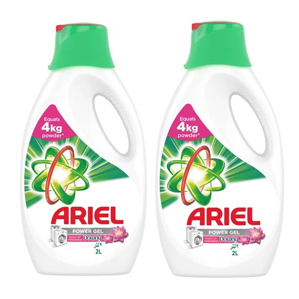Ariel Automatic Power Gel laundry Detergent With Touch Of Downy (2 x 2L)