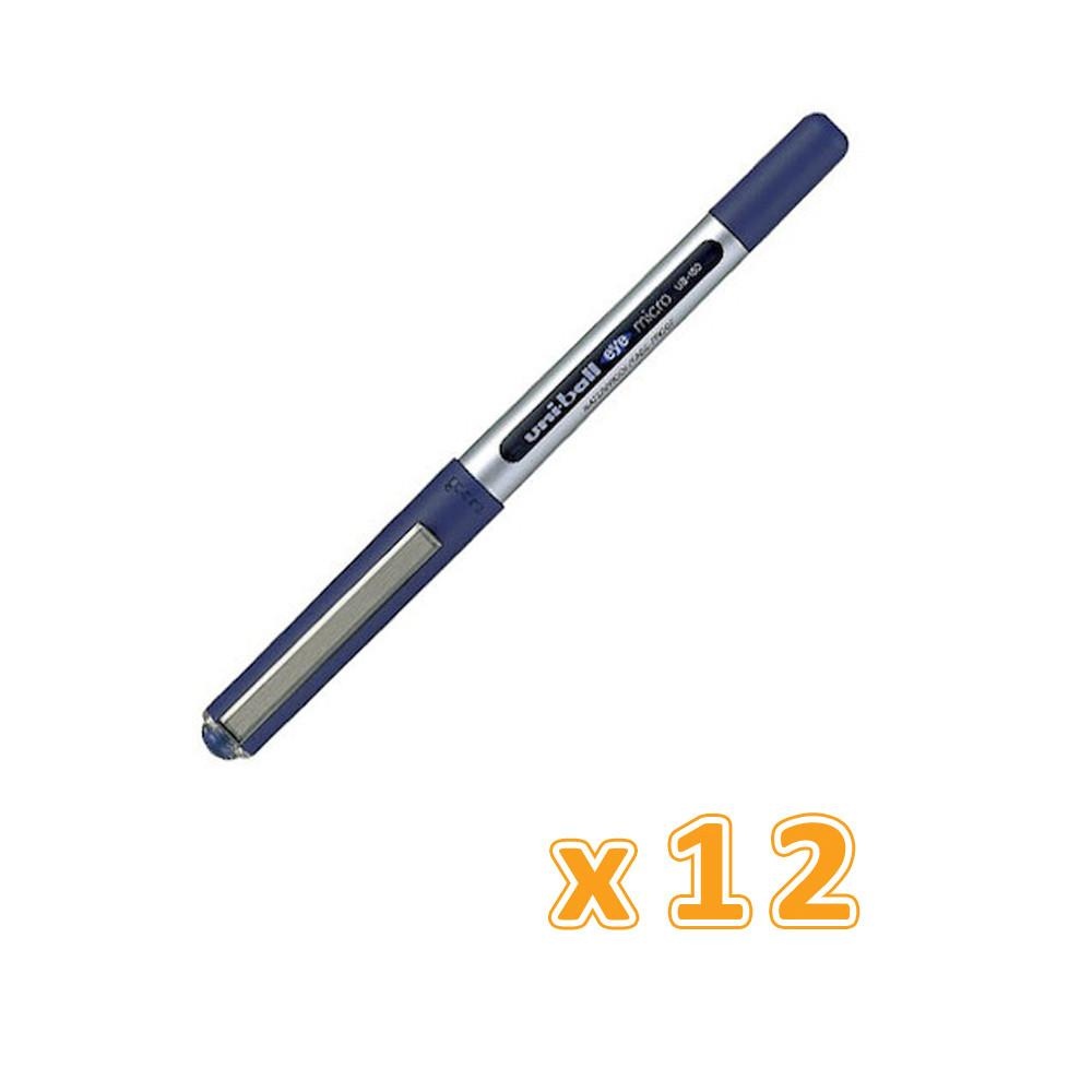 Uniball Rollerball Ub150 Eye 0.5 mm Blue (12 Pens) - Sanadeeg