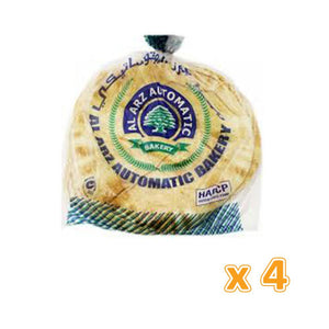 Al Arz White Arabic Bread Small ( 4 X 5 Loafs) - Sanadeeg
