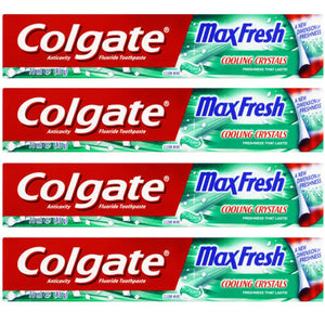 Colgate MaxFresh Cooling Crystals Clean Mint (4 x 95 gm)