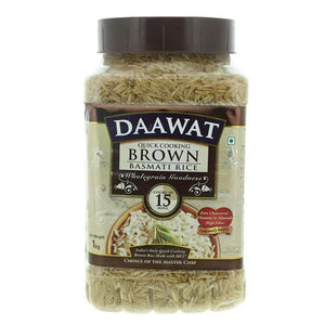 Daawat Quick Cooking Brown Basmati Rice  (1 KG)