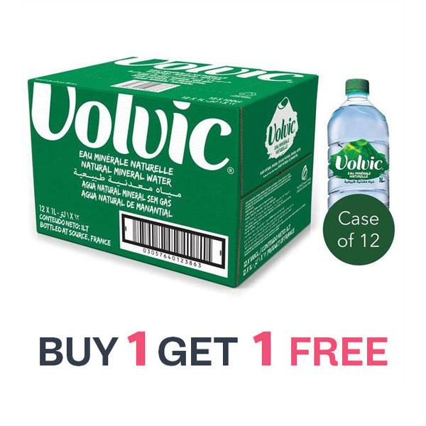 SPECIAL OFFER Volvic Natural Spring Water (12 X 1L) BUY 1 GET 1 FREE