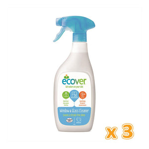 Ecover Window & Glass Cleaner (3 x 500 ML) - Sanadeeg