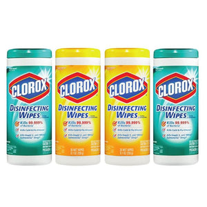Clorox Disinfecting Wet Wipes Mega Value Pack (4 x 35 Wipes)
