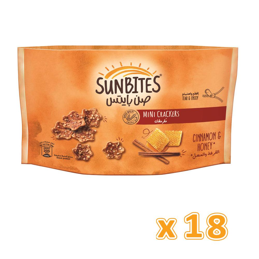 Sunbites Mini Crackers Cinnamon & Honey (18 x 40gm) - Sanadeeg