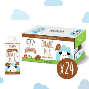 Koita Chocolate Organic Cow Milk (24 x 200 ML) - Sanadeeg