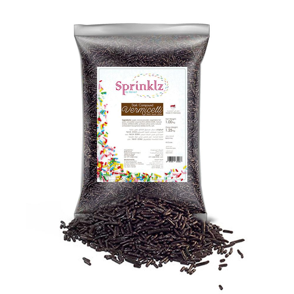 Sprinklz Dark Chocolate Sprinkles (1 KG)