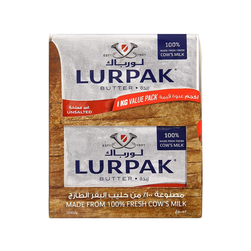 Lurpak Unsalted Butter Blocks Value Pack ( 2 x 500 gm)
