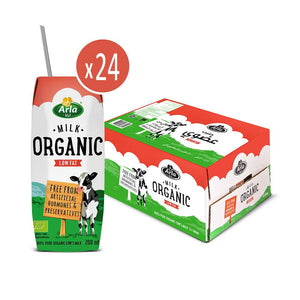 Arla Organic Low Fat Milk (24x 200ML) - Sanadeeg