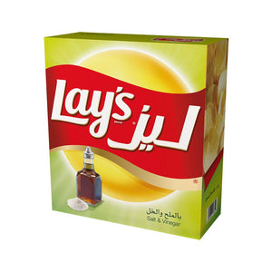 Lay's Salt & Vinegar Potato Chips  (14 X 23 gm) - Sanadeeg