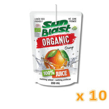 Sun Blast Organic Orange Juice (10 X 200 ml) - Sanadeeg