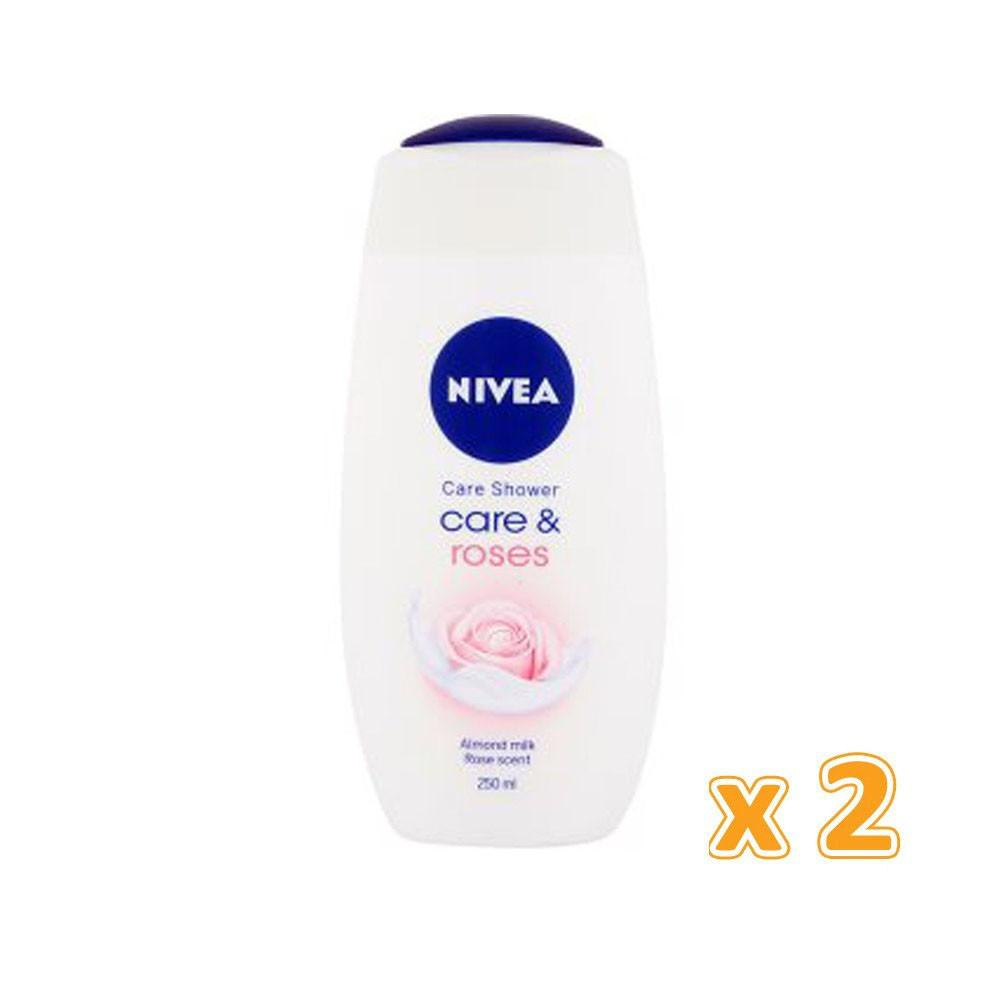 Nivea Care & Roses Shower Cream (2 x 250ml) - Sanadeeg