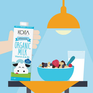 Koita Whole Organic Cow Milk (12 x 1L) - Sanadeeg