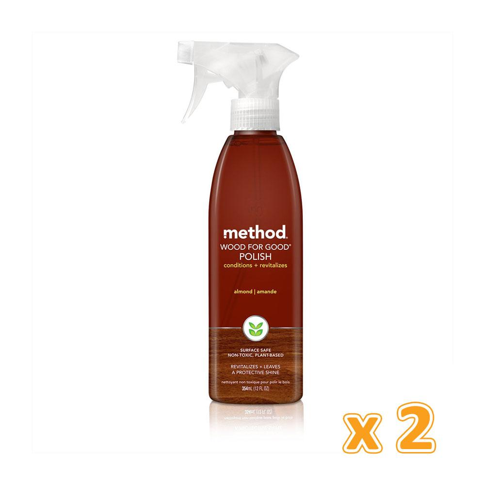 Method Wood For Good Furniture Polishing Spray Almond ( 2 x 354 ML) - Sanadeeg