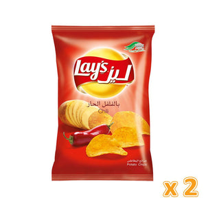 Lay's Chili Flavour Potato Chips (2 x 170 gm) - Sanadeeg
