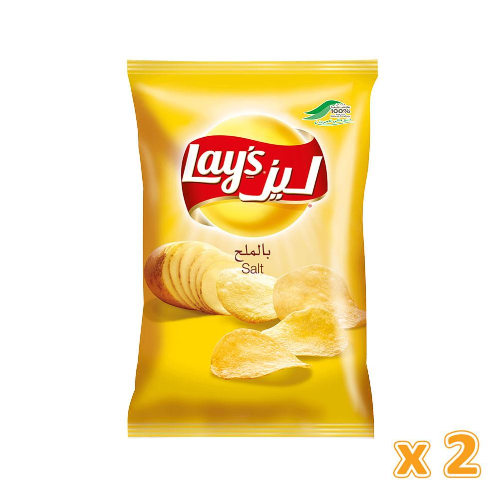 Lay's  Salt Potato Chips - (2 x 170 gm) - Sanadeeg