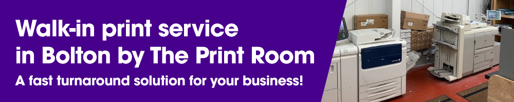 The Print Room's walk-in print service in Bolton