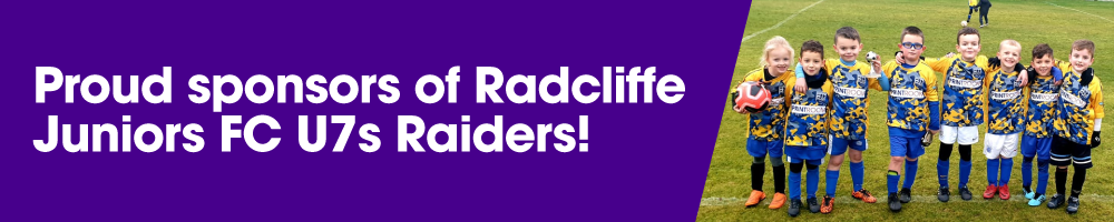 The Print Room is proud to sponsor Radcliffe Juniors FC U7s Raiders in 2020!