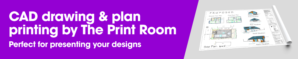 NEW! CAD drawing and plan printing by The Print Room, Bolton