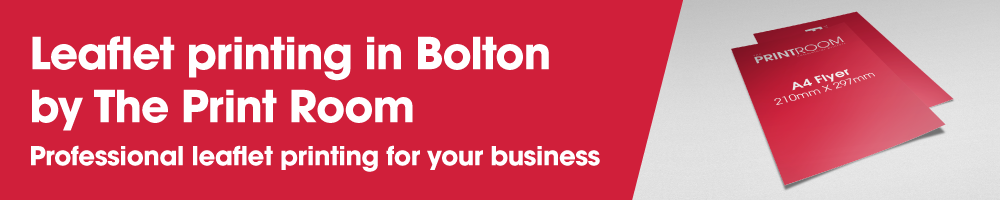 Leaflet printing in Bolton by The Print Room