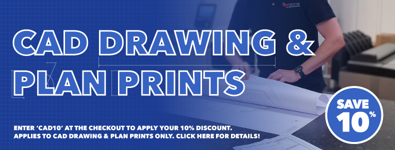 10% off CAD Drawings & Plan Printing with The Print Room, Bolton