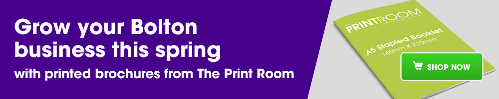 Grow your Bolton business this spring with printed brochures from The Print Room!