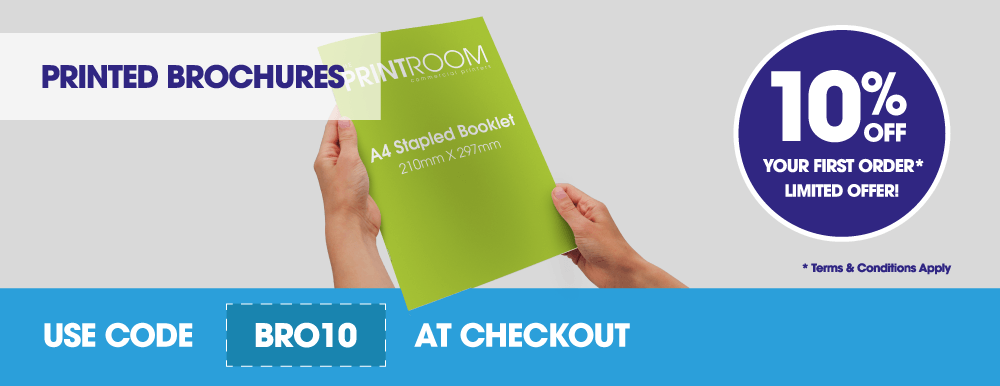 Get 10% off your first booklet and brochure print order with The Print Room, Bolton