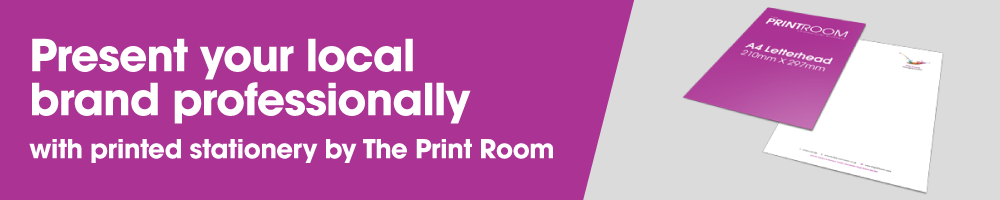 Printed business stationery by The Print Room, Bolton