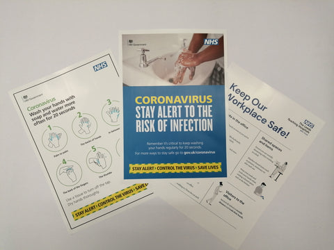 Printed COVID procedure posters for Professional Security, Leeds