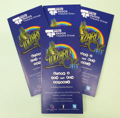 Printed Leaflets for PADOS Theatre Group Bolton.