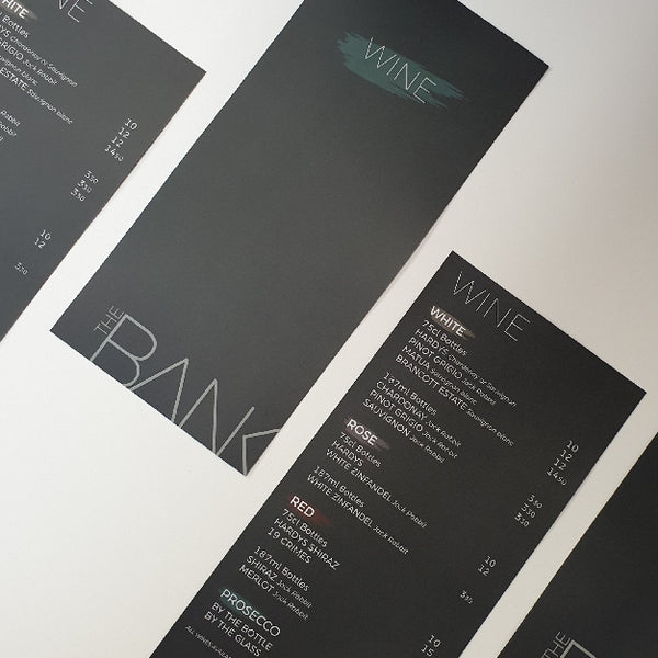 Fast menu printing that supports local bars & eateries