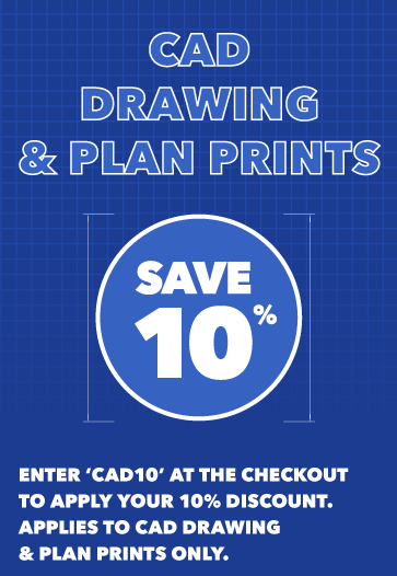10% Off Your First CAD Drawing & Plan Prints Order!