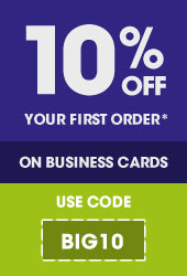 10% off your first business card order