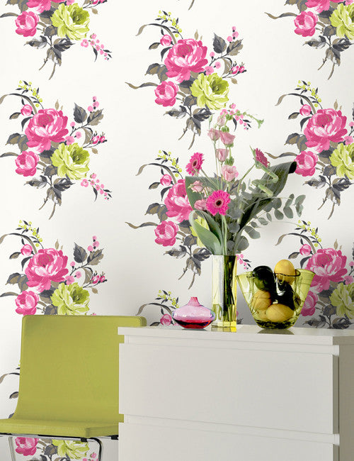 10931 Arabella is a beautiful Pink Floral Wallpaper from Holden Decor