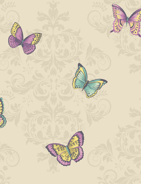 11532 Glitter Butterfly is a beautiful Cream Butterfly Wallpaper from Holden Decor