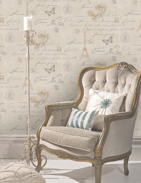 97750 Calligraphy is a beautiful Neutral Conversational Wallpaper from Holden Decor