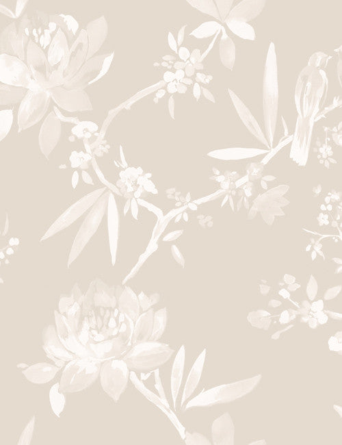 97860 Camille is a beautiful Neutral Floral Wallpaper from Holden Decor