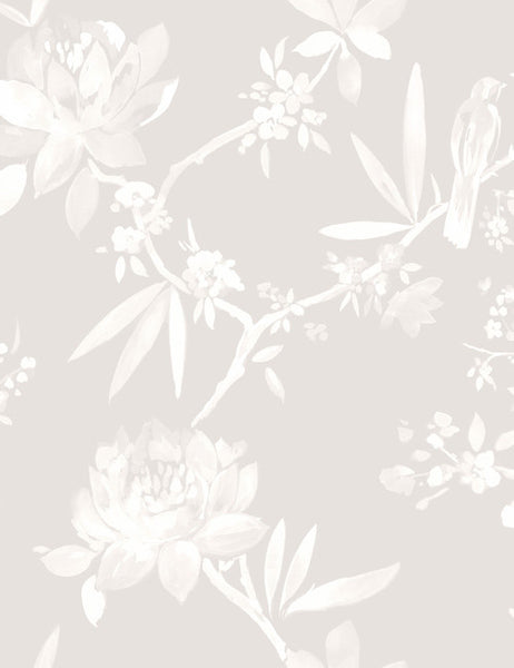 97861 Camille is a beautiful White Floral Wallpaper from Holden Decor